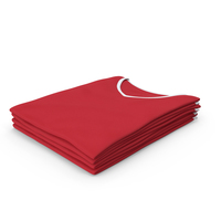 Female V Neck Folded Stacked White and Red PNG & PSD Images