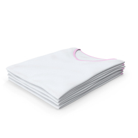 Female V Neck Folded Stacked White and Pink PNG & PSD Images