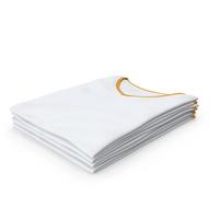 Female V Neck Folded Stacked White and Orange PNG & PSD Images