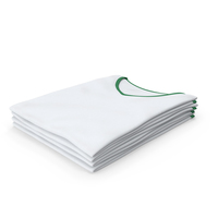 Female V Neck Folded Stacked White and Green PNG & PSD Images