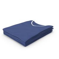 Female V Neck Folded Stacked White and Dark Blue PNG & PSD Images