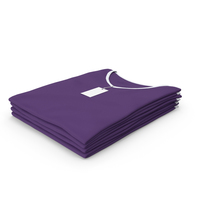 Female V Neck Folded Stacked With Tag White and Purple PNG & PSD Images