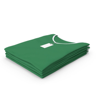 Female V Neck Folded Stacked With Tag White and Green PNG & PSD Images