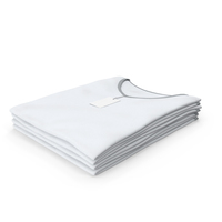 Female V Neck Folded Stacked With Tag White and Gray PNG & PSD Images