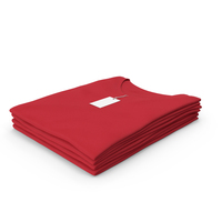 Female V Neck Folded Stacked With Tag Red PNG & PSD Images