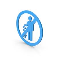 Symbol Do Not Litter Blue PNG & PSD Images