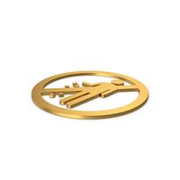 Gold Symbol Do Not Litter PNG & PSD Images