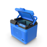 Portable Car Refrigerator Blue PNG & PSD Images