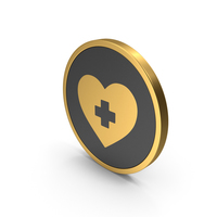 Gold Icon Medical Heart PNG & PSD Images