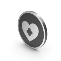 Silver Icon Medical Heart PNG & PSD Images