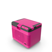 Portable Car Refrigerator Closed Pink New PNG & PSD Images