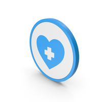 Icon Medical Heart Blue PNG & PSD Images