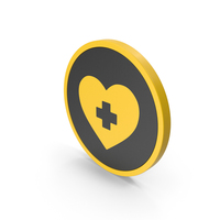 Icon Medical Heart Yellow PNG & PSD Images
