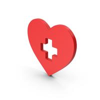 Symbol Medical Heart Cross PNG & PSD Images