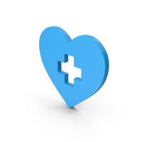 Symbol Medical Heart Blue PNG & PSD Images