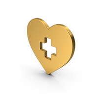 Symbol Medical Heart Gold PNG & PSD Images