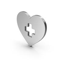 Symbol Medical Heart Silver PNG & PSD Images