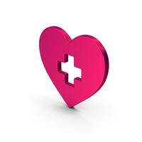 Symbol Medical Heart Metallic PNG & PSD Images