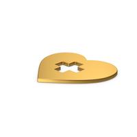 Gold Symbol Medical Heart PNG & PSD Images