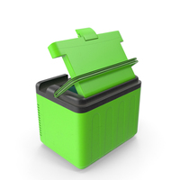 Portable Car Refregerator Green Used PNG & PSD Images