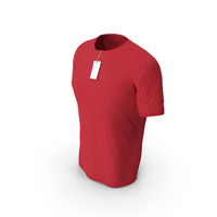 Male Crew Neck Worn With Tag Red PNG & PSD Images