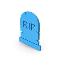 Symbol Gravestone Blue PNG & PSD Images