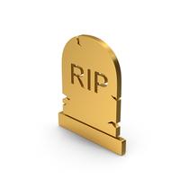 Symbol Gravestone Gold PNG & PSD Images