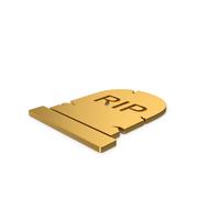 Gold Gravestone Symbol PNG & PSD Images