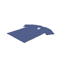 Male Crew Neck Laying With Tag Dark Blue PNG & PSD Images
