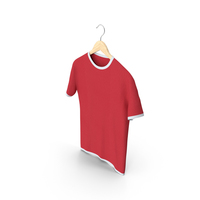 Male Crew Neck Hanging White and Red PNG & PSD Images