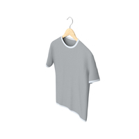 Male Crew Neck Hanging White and Gray PNG & PSD Images