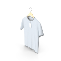 Male Crew Neck Hanging With Tag White and Gray PNG & PSD Images