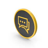 Icon Chatting Yellow PNG & PSD Images