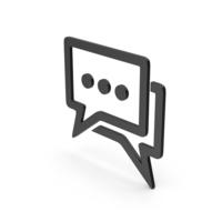 Symbol Chatting Black PNG & PSD Images