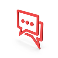 Symbol Chatting Red PNG & PSD Images