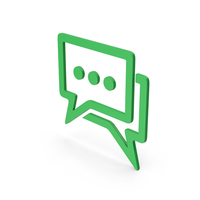 Symbol Chatting Green PNG & PSD Images