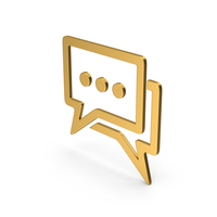Symbol Chatting Gold PNG & PSD Images