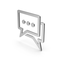 Symbol Chatting Silver PNG & PSD Images