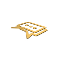 Gold Symbol Chatting PNG & PSD Images