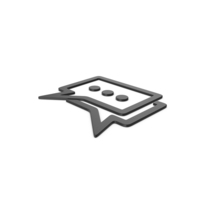 Black Symbol Chatting PNG & PSD Images
