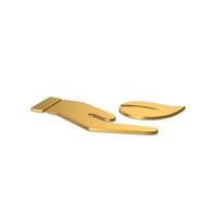 Gold Symbol Save Green PNG & PSD Images