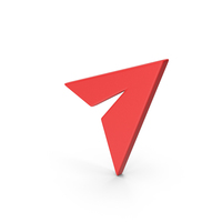 Symbol Paper Plane Red PNG & PSD Images