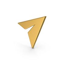 Symbol Paper Plane Gold PNG & PSD Images