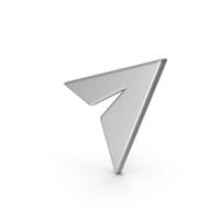 Symbol Paper Plane Silver PNG & PSD Images