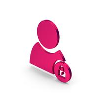 Symbol Locked User Metallic PNG & PSD Images