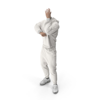 Outfit Hand Supporting Head Pose White PNG & PSD Images