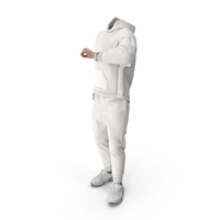 Outfit White Checking Time Pose PNG & PSD Images