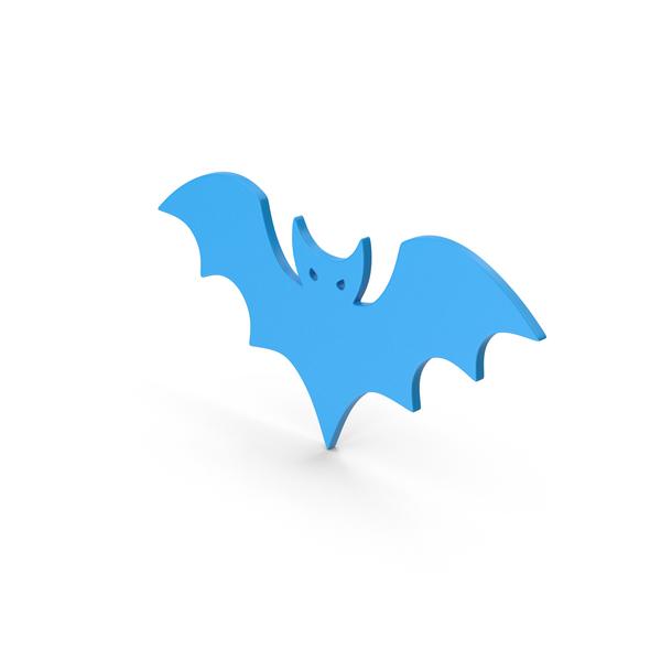 Symbol Halloween Bat Blue PNG & PSD Images
