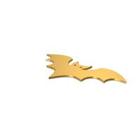 Gold Symbol Halloween Bat PNG & PSD Images