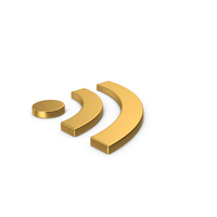 Gold Symbol RSS PNG & PSD Images